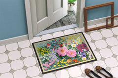 Winter Floral by Anne Searle Indoor or Outdoor Mat 24x36 SASE0956JMAT