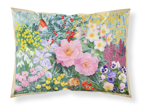 Buy this Winter Floral by Anne Searle Fabric Standard Pillowcase SASE0956PILLOWCASE