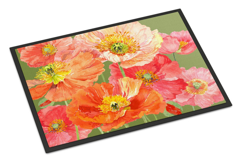Poppies by Anne Searle Indoor or Outdoor Mat 18x27 SASE664CMAT by Caroline's Treasures