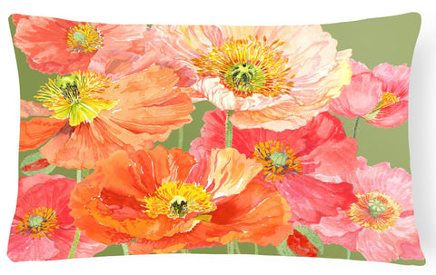 Buy this Poppies by Anne Searle Fabric Decorative Pillow SASE664CPW1216