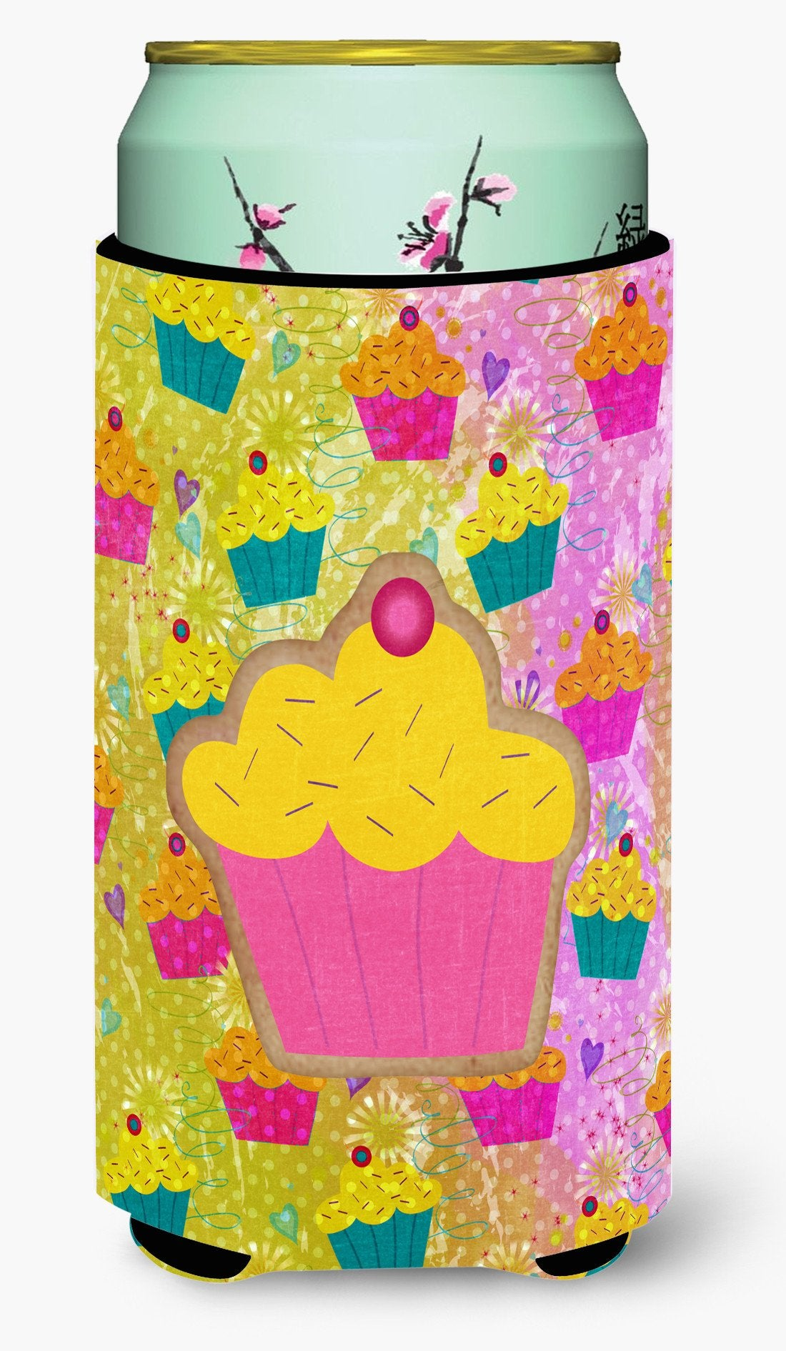 Cupcake  Tall Boy Beverage Insulator Beverage Insulator Hugger by Caroline's Treasures
