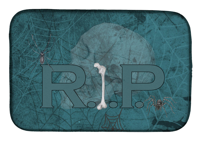 Buy this RIP Rest in Peace with spider web Halloween Dish Drying Mat SB3004DDM