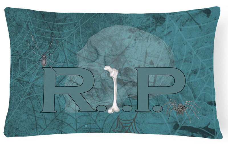 Buy this RIP Rest in Peace with spider web Halloween   Canvas Fabric Decorative Pillow