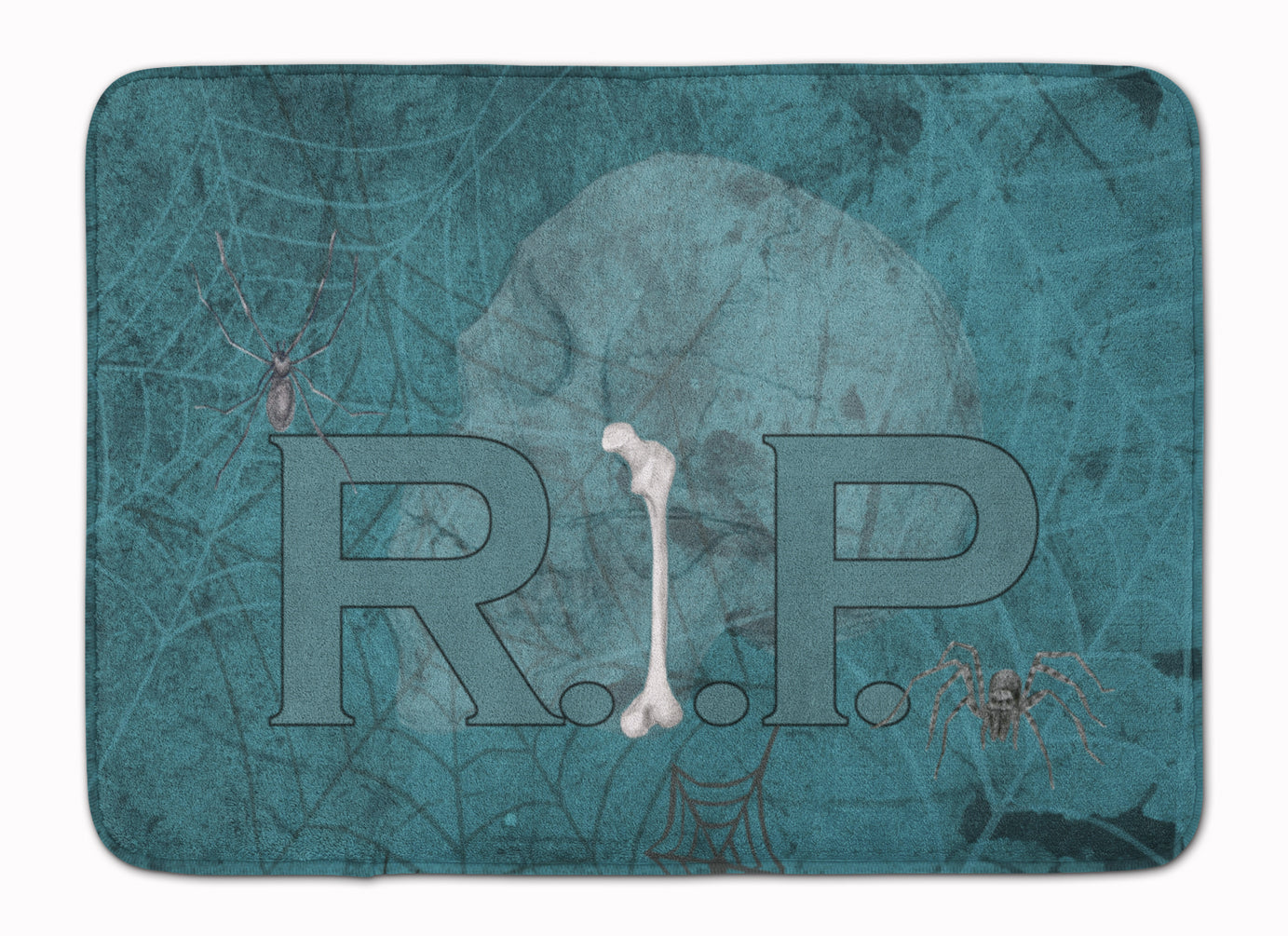 Buy this RIP Rest in Peace with spider web Halloween Machine Washable Memory Foam Mat SB3004RUG