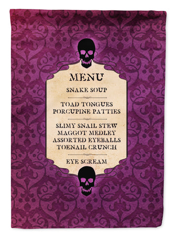 Buy this Goulish Menu including Eye Screen and Snake soup Halloween Flag Garden Size