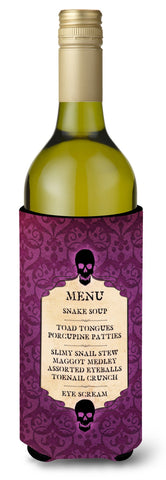 Buy this Goulish Menu  Eye Screen Snake soup Halloween Wine Bottle Beverage Insulator Beverage Insulator Hugger
