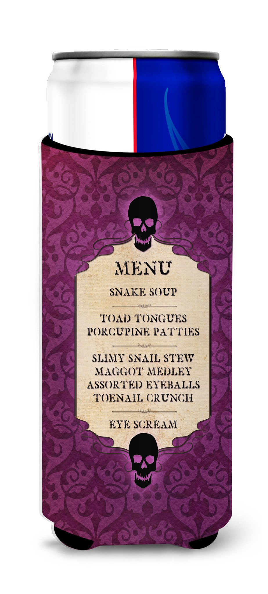 Buy this Goulish Menu including Eye Screen and Snake soup Halloween Ultra Beverage Insulators for slim cans SB3005MUK