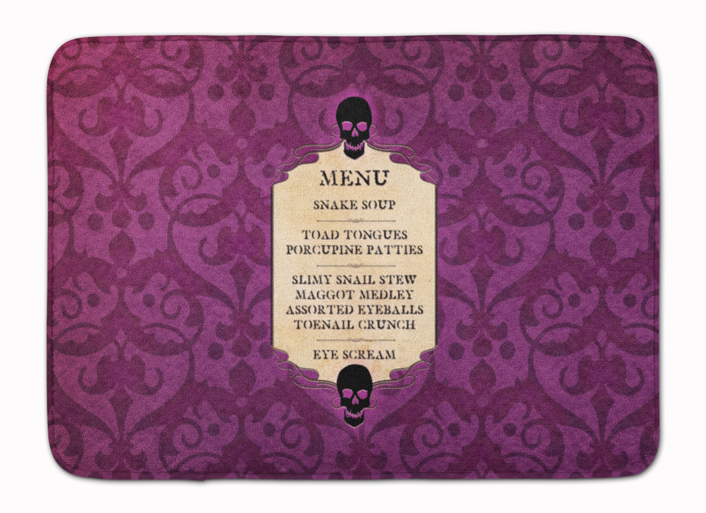 Buy this Goulish Menu including Eye Screen Snake soup Halloween Machine Washable Memory Foam Mat SB3005RUG