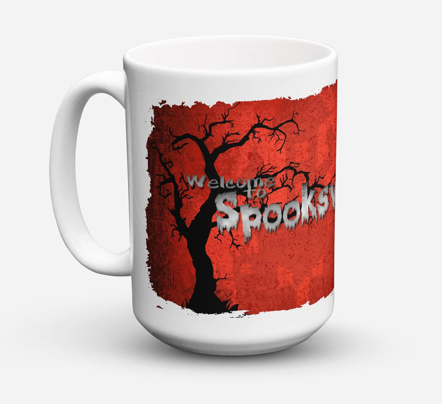 Buy this Welcome to Spooksville Halloween Dishwasher Safe Microwavable Ceramic Coffee Mug 15 ounce SB3008CM15
