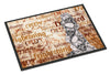 Creepy, Haunted and Frightful with skulls Halloween 24x36 Doormat - the-store.com
