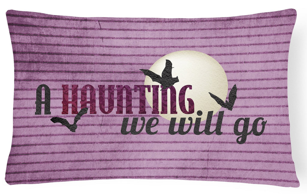 Buy this A Haunting we will go Halloween   Canvas Fabric Decorative Pillow