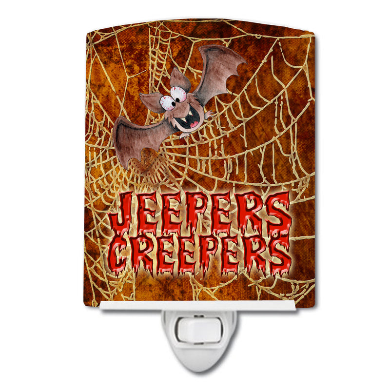 Buy this Jeepers Creepers with Bat and Spider web Halloween Ceramic Night Light SB3018CNL