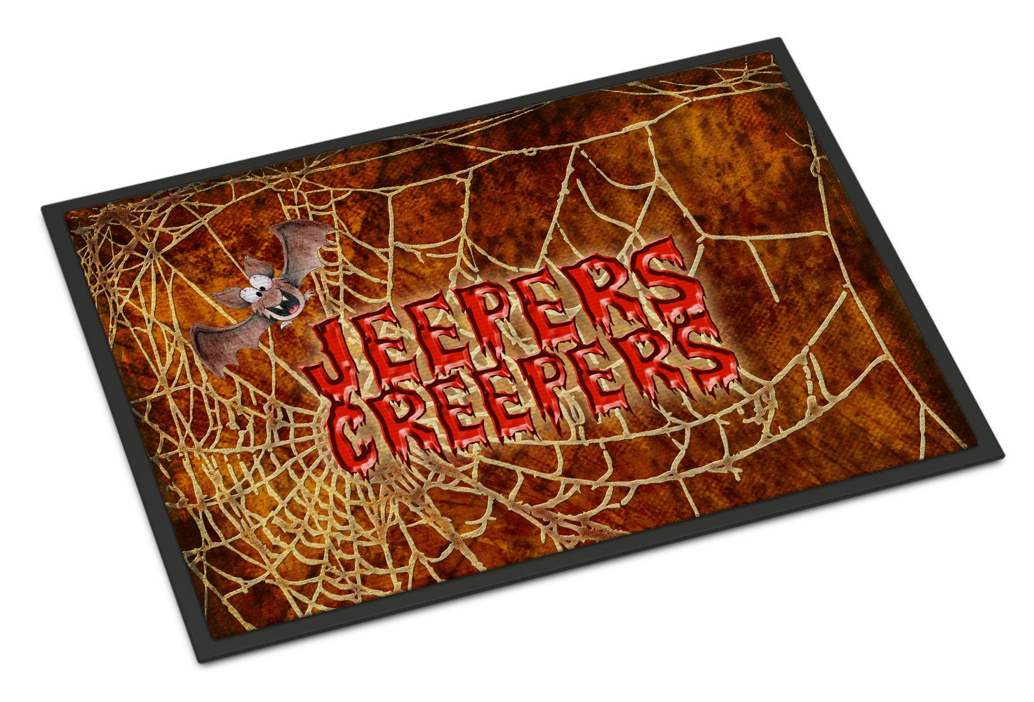 Buy this Jeepers Creepers with Bat and Spider web Halloween 24x36 Doormat
