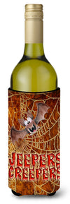 Buy this Jeepers Creepers with Bat and Spider web Halloween Wine Bottle Beverage Insulator Beverage Insulator Hugger