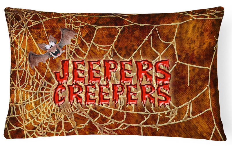 Buy this Jeepers Creepers with Bat and Spider web Halloween   Canvas Fabric Decorative Pillow