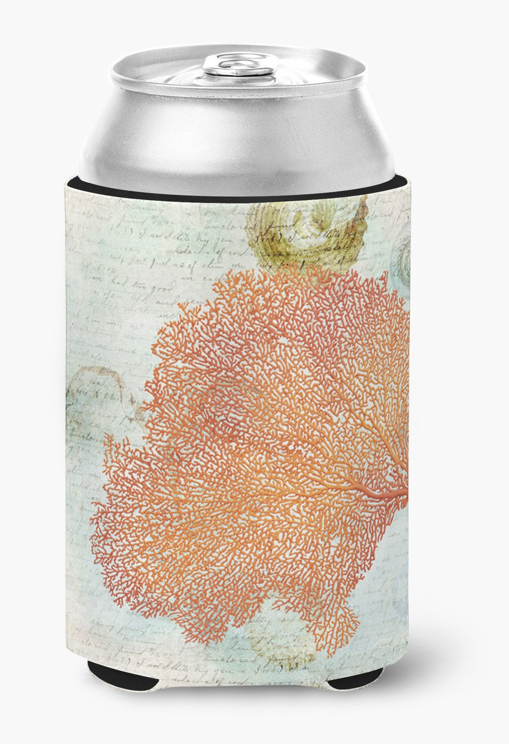 Coral Pink Can or Bottle Beverage Insulator Hugger - the-store.com