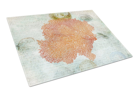 Buy this Coral Pink Glass Cutting Board Large