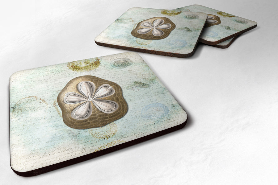 Buy this Set of 4 Sand Dollar  Foam Coasters