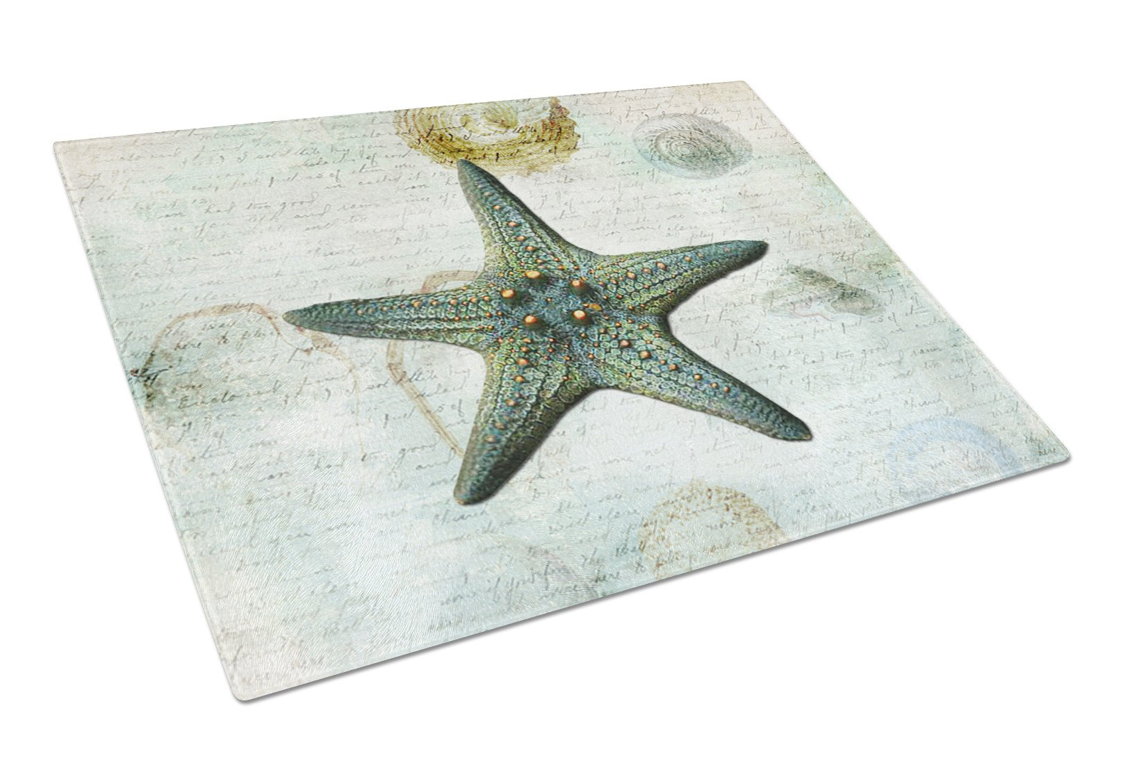 Starfish  Glass Cutting Board Large by Caroline's Treasures