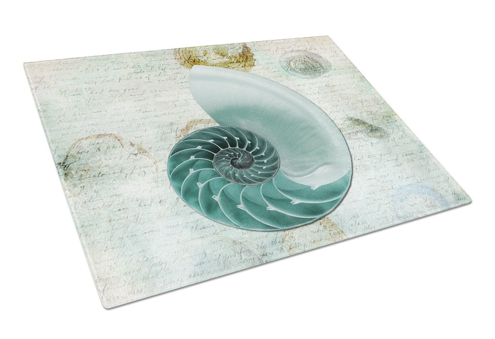 Shells  Glass Cutting Board Large by Caroline's Treasures