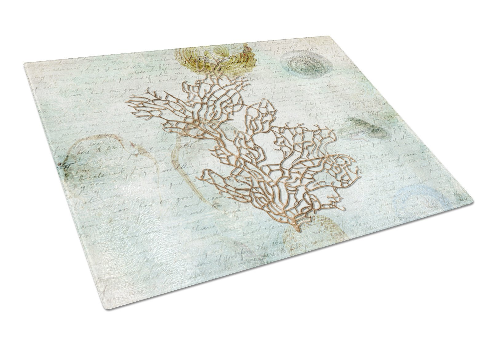 Coral  Glass Cutting Board Large - the-store.com