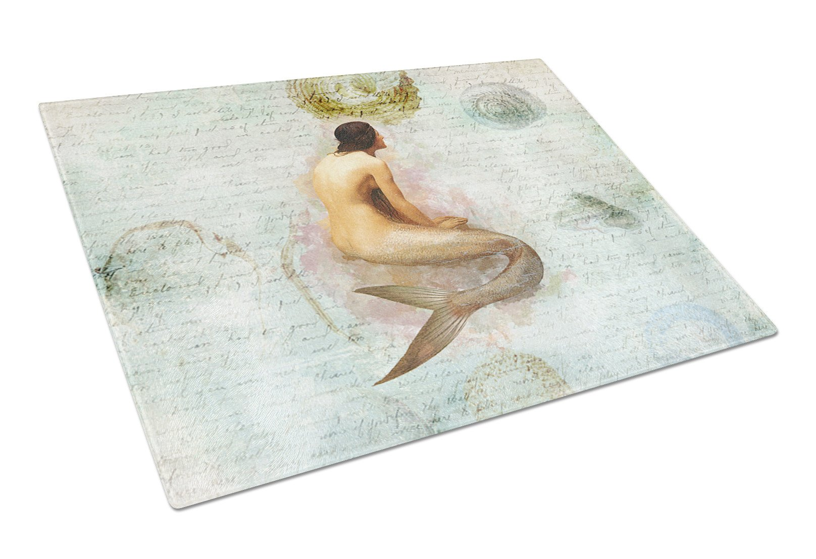 Buy this Mermaids and Mermen  Glass Cutting Board Large