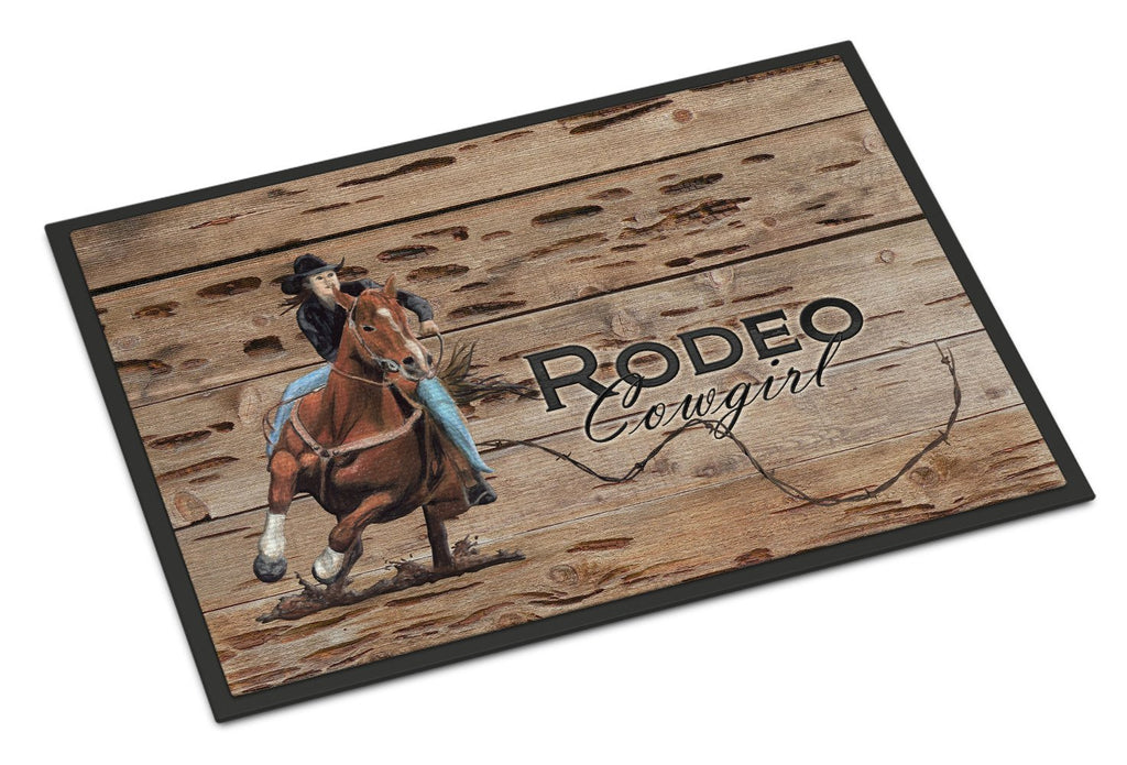 Buy this Rodeo Cowgirl Barrel Racer Indoor or Outdoor Mat 24x36 SB3055JMAT