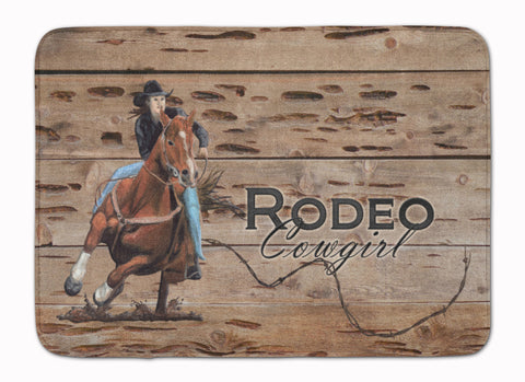 Buy this Rodeo Cowgirl Barrel Racer Machine Washable Memory Foam Mat SB3055RUG