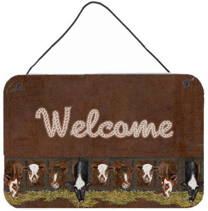 Buy this Welcome Mat with Cows Aluminium Metal Wall or Door Hanging Prints SB3058DS812