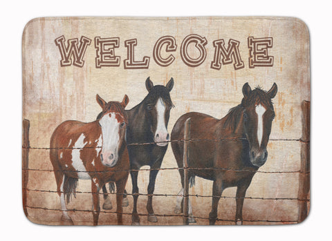Buy this Welcome Mat with Horses Machine Washable Memory Foam Mat SB3059RUG