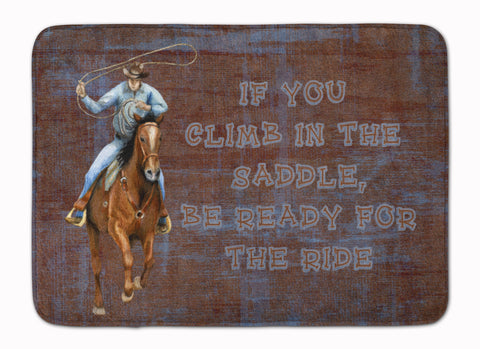 Buy this Roper Horse If you climb in the saddle, be ready for the ride Machine Washable Memory Foam Mat SB3061RUG