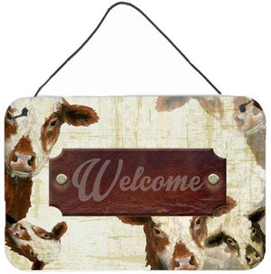 Buy this Welcome cow Aluminium Metal Wall or Door Hanging Prints SB3065DS812