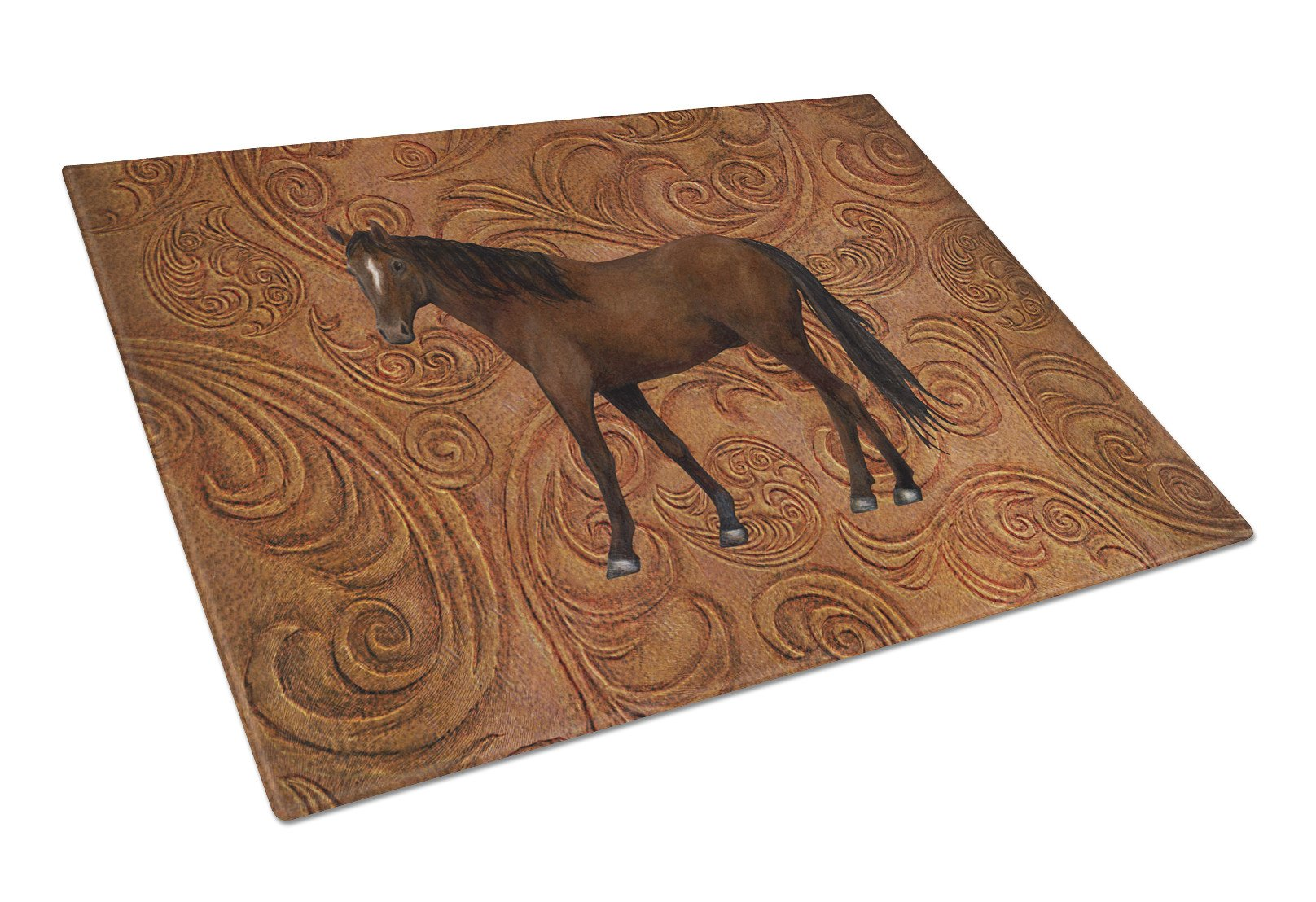 Horse Glass Cutting Board Large Size SB3066LCB by Caroline's Treasures