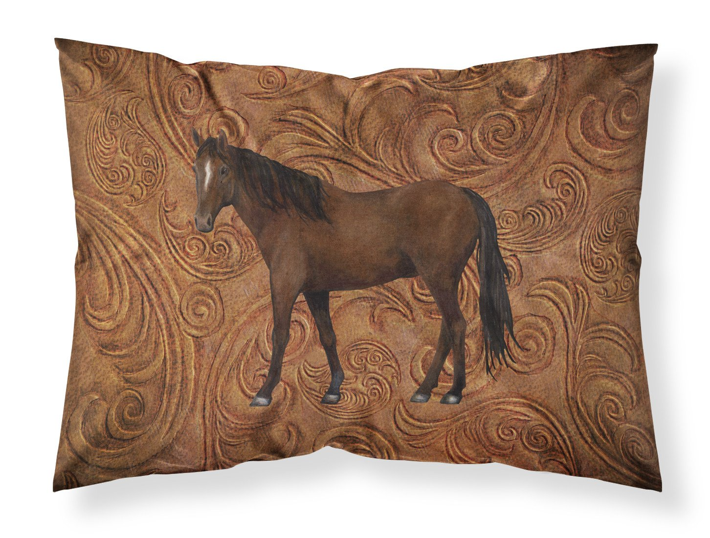 Horse Moisture wicking Fabric standard pillowcase SB3066PILLOWCASE by Caroline's Treasures