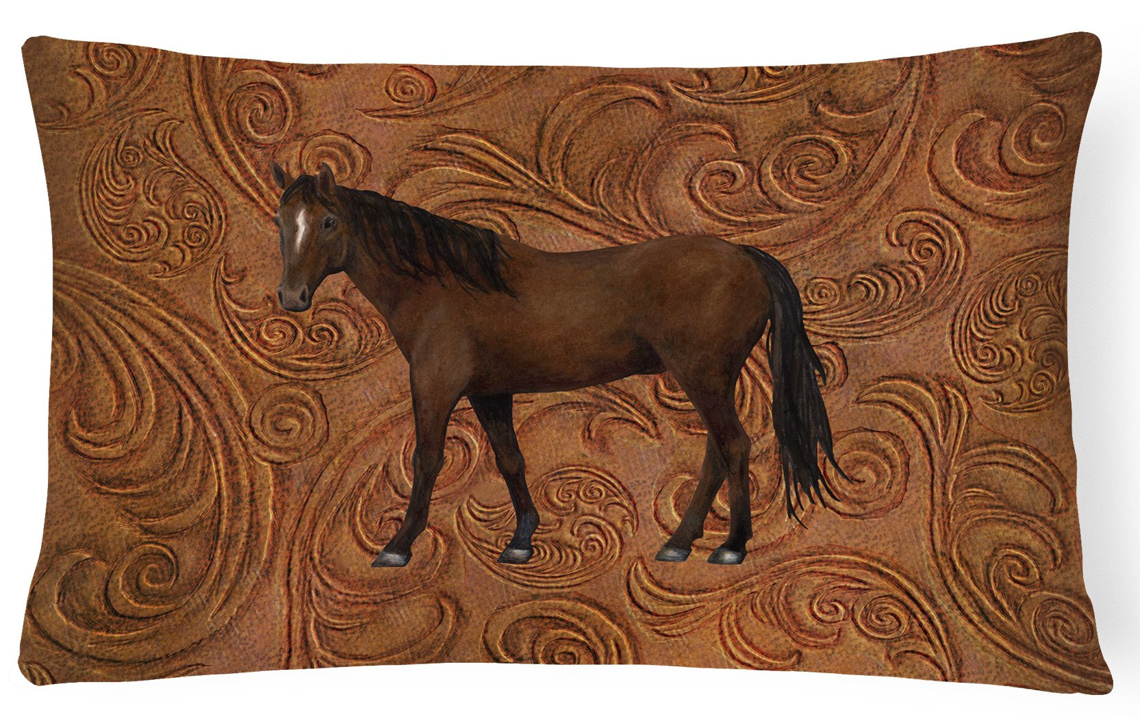 Horse   Canvas Fabric Decorative Pillow SB3066PW1216 by Caroline's Treasures