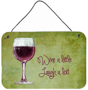 Buy this Wine a little laugh a lot Wall or Door Hanging Prints SB3067DS812