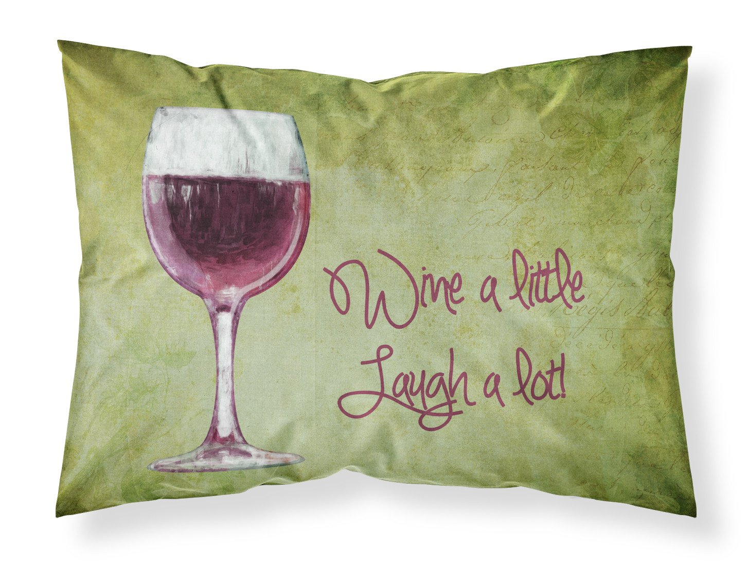 Wine a little laugh a lot Moisture wicking Fabric standard pillowcase SB3067PILLOWCASE by Caroline's Treasures