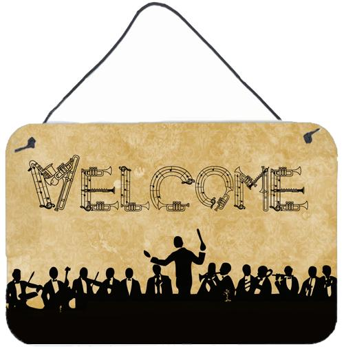 Buy this Welcome Symphony Aluminium Metal Wall or Door Hanging Prints SB3071DS812