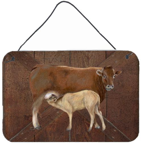 Cow Momma and Baby Aluminium Metal Wall or Door Hanging Prints by Caroline's Treasures
