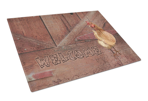Buy this Welcome Chicken Glass Cutting Board Large Size SB3075LCB
