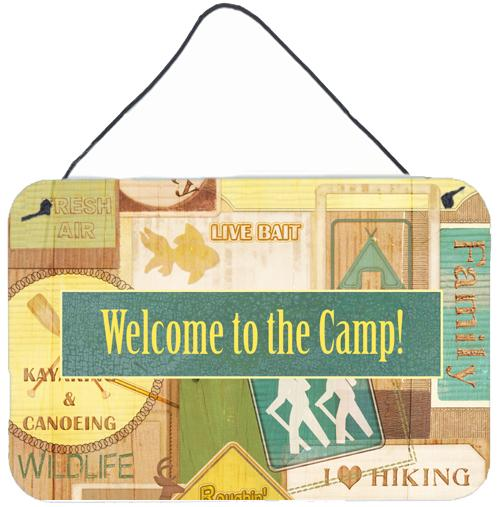 Buy this Welcome to the Camp Aluminium Metal Wall or Door Hanging Prints SB3080DS812