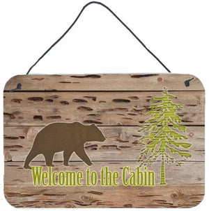 Buy this Welcome to the Cabin Aluminium Metal Wall or Door Hanging Prints SB3081DS812
