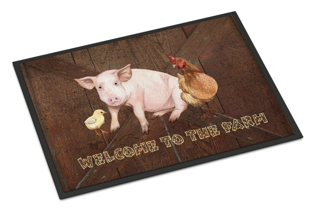 Buy this Welcome to the Farm with the pig and chicken Indoor or Outdoor Mat 24x36 SB3083JMAT