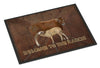 Welcome to the Ranch with the Cow and Baby Indoor or Outdoor Mat 24x36 SB3084JMAT - the-store.com