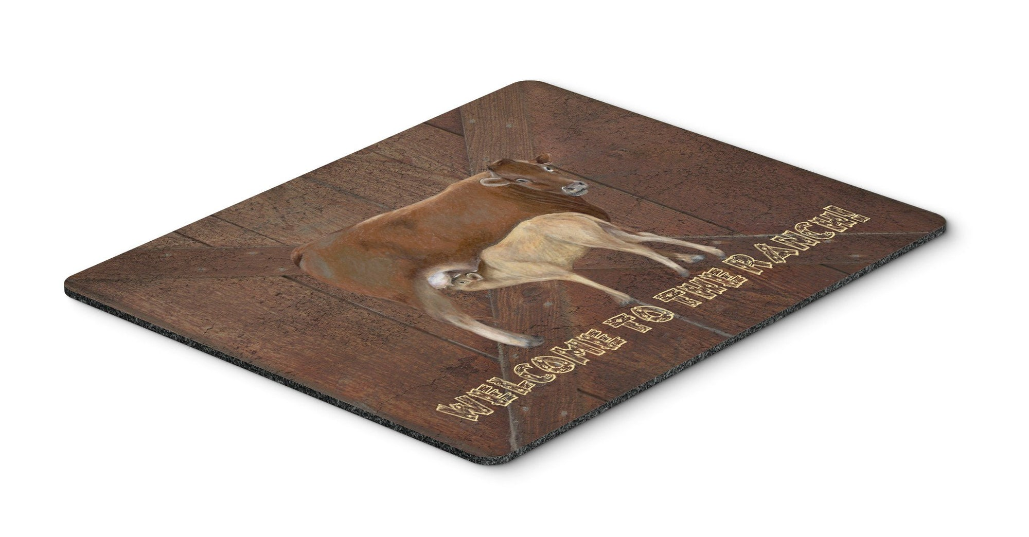 Welcome to the Ranch with the Cow and Baby Mouse Pad, Hot Pad or Trivet SB3084MP by Caroline's Treasures
