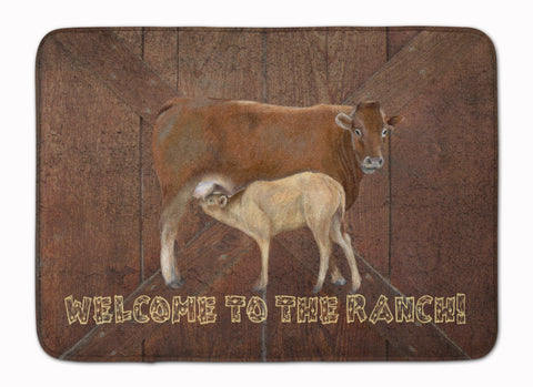 Buy this Welcome to the Ranch with the Cow and Baby Machine Washable Memory Foam Mat SB3084RUG