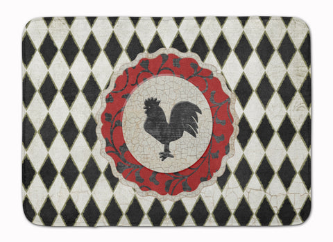 Buy this Rooster Harlequin Black and white Machine Washable Memory Foam Mat SB3086RUG