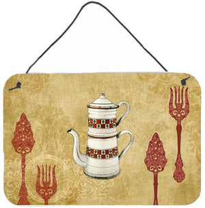 Buy this Teapot Welcome Aluminium Metal Wall or Door Hanging Prints SB3088DS812