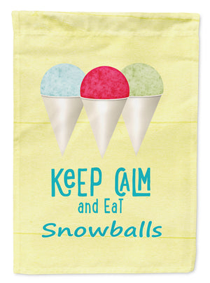 Buy this Keep calm and eat snowballs Flag Garden Size SB3109GF