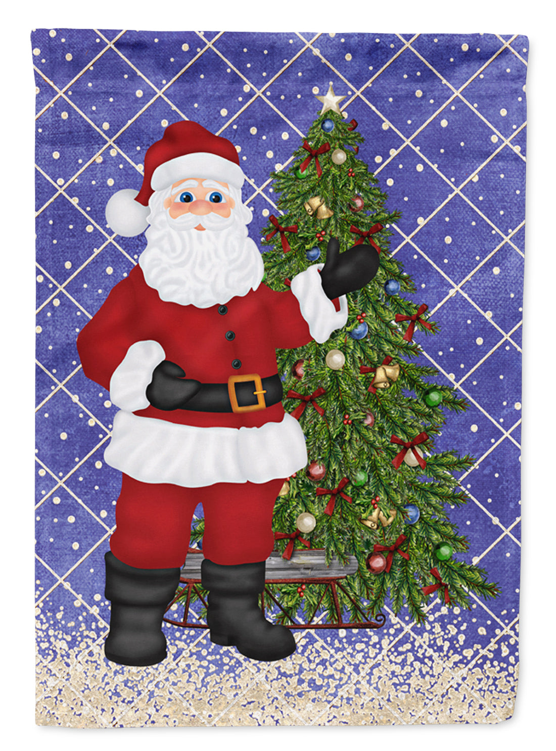 Buy this Santa Claus and Christmas Tree Flag Garden Size SB3114GF